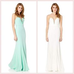 Stunning #JarloLondon #Helena Maxi Dress <3 Available in ivory and mint! Featuring structured bust detailing ✌ PRE-ORDER YOURS NOW!