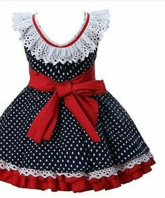 Pettigirl Marinha Pontos Azuis Meninas Vestidos Crianças Da Menina Do Bebê Sem Mangas Verão Vesti Frocks For Girls, Little Girl Dresses, Girls Dresses, Girls Frock Design, Baby Dress Design, Baby Frocks Designs, Kids Frocks Design, Kids Dress Wear, Baby Girl Dress Patterns