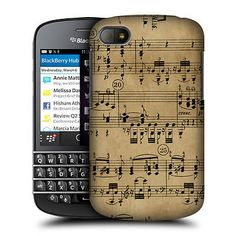 HEAD CASE BEETHOVEN MUSIC SHEETS DESIGN HARD BACK CASE COVER FOR BLACKBERRY Q10