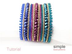Jewelry Patterns, Bead Patterns, Bracelet Patterns, Beading Techniques, Beading Tutorials, Thing 1, Herringbone Stitch, Seed Bead Bracelets, Beautiful Patterns