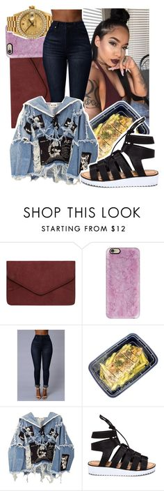 """7:58pm"" by makkisme ❤ liked on Polyvore featuring Dorothy Perkins, Balenciaga, Casetify, Rolex, Freshware and BLK DNM"