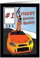1 Friend Buddy Winning Sports Birthday Race Car