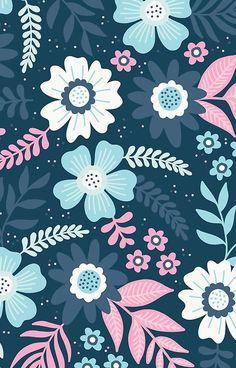 'Floral Dance' iPhone Case by Flower Backgrounds, Flower Wallpaper, Wallpaper Backgrounds, Iphone Wallpaper, Design Textile, Design Floral, Scandinavian Pattern, Killer Queen, Design Graphique