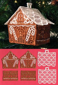 Enchanted Gingerbread House (Lace) | Urban Threads: Unique and Awesome Embroidery Designs