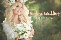 Vintage Wedding Photoshop Actions by beArt-presets on Creative Market