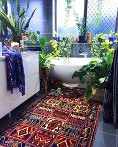daily indulgence. Tropical bathroom. Instagram