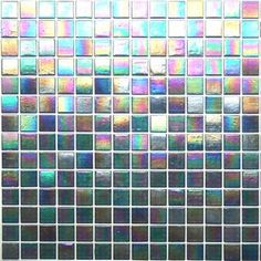 Iridescent Glass Mosaic Tile - Backstage Blue - Kaleidoscope ColorGlitz--colors and shimmer