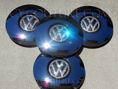 Swarovski Crystal Bling VW Volkswagen Center Wheel Rim Caps. Bling Your Car Fabulous! :)