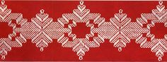 Huck weaving ~ No real link for this, but I remember doing a Christmas towel similar to this with my grandmother.