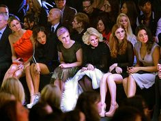LOL front row NY fashion week. I love it.