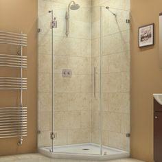 DreamLine PrismLux 36-5/16 x 36-5/16 Frameless Hinged Shower Enclosure | Overstock.com Shopping - Big Discounts on DreamLine Shower Doors