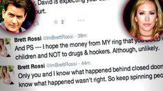 Brett Rossi Charlie Sheen Drugs Twitter Rant