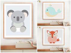 Baby Geometric Animals Art print Digital Art Set by MelimeBabyArt