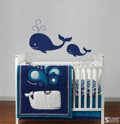 Wale-Vinyl Wall Decal für Kindergarten Fisch Wand von stampmagick