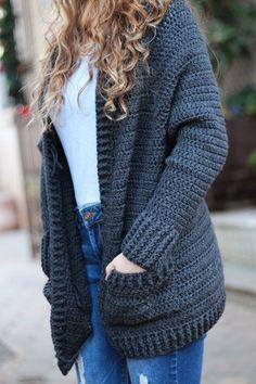 Tunisian Crochet, Crochet Shawl, Easy Crochet, Free Crochet, Knit Crochet, Tutorial Crochet, Crochet Sweaters, Crochet Stitch, Crochet Scarfs