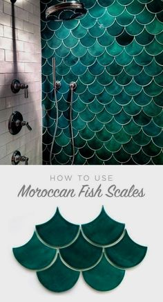 How to use Moroccan Fish Scales for your bath or shower wall! Unique tile with a. How to use Moroccan Fish Scales for your bath or shower wall! Unique tile with a gorgeous impact - simple yet stunning. Source by Unique Tile, Bath Or Shower, Shower Tiles, Pool Shower, Bath Tubs, Bathroom Inspiration, Bathroom Ideas, Pool Bathroom, Bathroom Goals