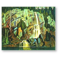 Lawren Harris, Algoma Waterfall, Canadian Group of Seven Tom Thomson, Emily Carr, Watercolor Landscape, Landscape Art, Landscape Paintings, Canadian Painters, Canadian Artists, Group Of Seven Artists, Most Famous Artists