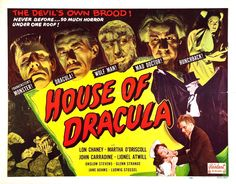 """House of Drácula"", 1945."