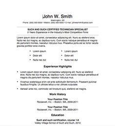 Free Resume Download Simple Resume 14   Microsoft Word Format  Microsoft Resume