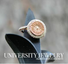 Baylor University #226 C/S in rose gold with genuine diamonds. Made by the talented jewelers of University Jewelry at San Jose Jewelers in Waco, Texas. #bayloruniversity #sealring #baylorsealring #baylorring #baylorclassring #universityjewelry #universityring #waco #sanjose #gobears #baylor #baylorbears #bu #sicem