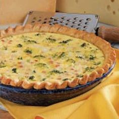 Broccoli Ham Quiche - Taste of Home- A great way to clean up that leftover Christmas ham! :) This is delicious!!