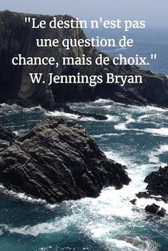 Quote: Fate is not a question of luck but of choice. Magic Quotes, Best Quotes, Quotes Quotes, Life Quotes, Positive Mind, Positive Quotes, Good Quotes For Instagram, Jolie Phrase, French Quotes