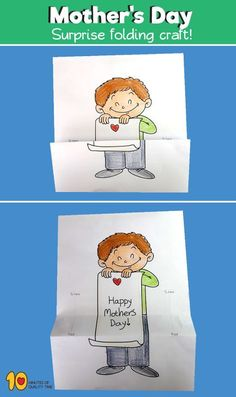 Happy Mother's Day Surprise Folding Craft – 10 Minutes of Quality Time Every Mother's Morning, you have got the opportunity to inform each of your mama how wonderful she's. Learn more about mothers day cards handmade