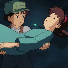 Studio Ghibli Studio Ghibli Movies, Castle In The Sky, My Neighbor Totoro, Princess Mononoke, Cool Animations, Hayao Miyazaki, Art Pieces, Illustrations, Inspired