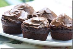 Chocolate avocado cupcakes. Gotta try this!