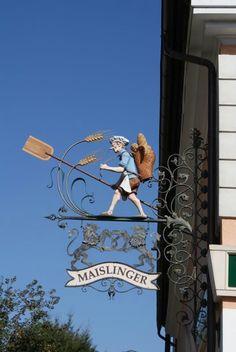 A bakery sign in Bad Goisern, Austria