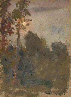 Zachód słońca w lesie - Tadeusz Makowski