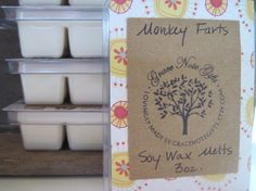 ON SALE to make room for more seasonal scents! MONKEY FARTS Soy Wax Tarts Fruit & Banana by gracenotegifts, $3.00