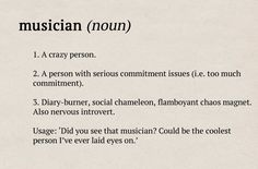 Classic FM's Dictionary definitions os musicians: your guide to the orchestra. :D