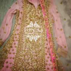 This pink and gold piece by Punjab Couture House is fit for a princess! Simply pretty and elegant.