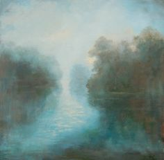 """""""In a Fog"""" 24x24 Oil on Canvas"""