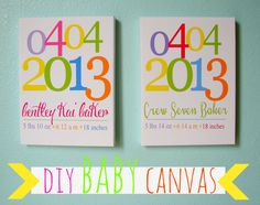 canvas photo wraps..and a cute baby present - A girl and a glue gun