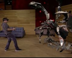 An awesome Virtual Reality pic! #microsoft previewed holographic gaming on the #HOLOLENS at the Microsoft conference last night. Whilst the demonstration and gameplay looked tight and well developed the announcement of the #developmentkit at $3000 nearly threw me off my chair!! Holy shit balls! #virtualreality #vr #augmentedreality #ar #gaming #hologram by knownotgaming check us out: http://bit.ly/1KyLetq