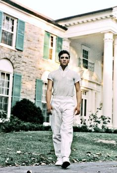 Elvis Presley photographed at Graceland by Michael Ochs, c. 1957.