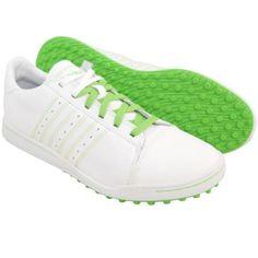 New adidas Men's Adicross Golf Shoe, White/White/Kelly Green Size 11.5 M US  #adidas