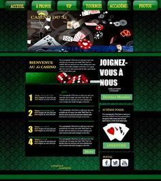 Site Web by Steeve Girard, via Behance Poker, Behance, Site Web, Photos, Student, Concept, Abstract Backgrounds, Gaming, Pictures