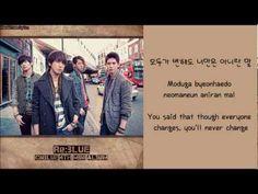 [CNBlue] I'm Sorry (Hangul/Romanized/English Sub) Lyrics