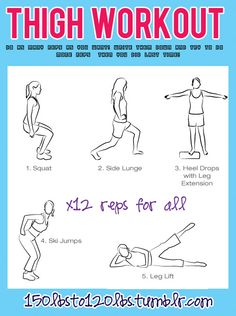 simple thigh workout!