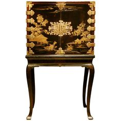 A Japanese Lacquer Cabinet | From a unique collection of antique and modern cabinets at https://www.1stdibs.com/furniture/storage-case-pieces/cabinets/