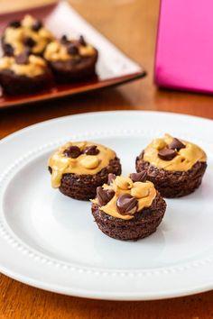 Amazing Peanut Butter Fudge Brownie Bites. The best peanut butter/chocolate dessert ever! sallysbakingaddiction.com