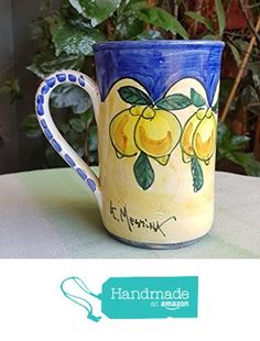 Boccale da birra in ceramica. Bicchiere da birra. Tazza in ceramica. Mug in ceramica. Le ceramiche di Ketty Messina. da Le ceramiche di Ketty Messina https://www.amazon.it/dp/B0746MSHRR/ref=hnd_sw_r_pi_dp_x-FDzbPV20WNX #handmadeatamazon