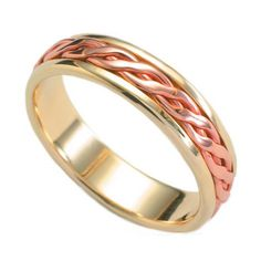 18ct Celtic Plait Inlaid Wedding Band Plait, Celtic, Wedding Bands, Rings For Men, Gems, Engagement Rings, Jewels, Crystals, Enagement Rings