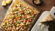 Recipes to Turn Your Kitchen into a Legit Pizzeria These gourmet-style pizzas make a strong case for never ordering pizza ever again. Theyre that good and that easy. Chicken Pizza Recipes, Pesto Chicken, Rotisserie Chicken, Pillsbury Recipes, Pillsbury Dough, Pizzeria, Eat Pizza, Veggie Pizza, Gourmet