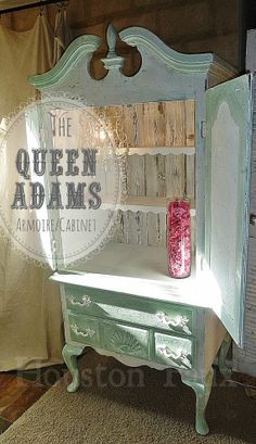 Shabby chic armoire pink antique vintage by - Simply shabby chic bedroom furniture ...