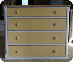annie sloan new yellow chalk paint | Sunday @ A Sunday Afternoon submitted her creamy yellow dresser.