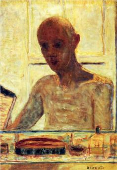 Self Portrait in a Shaving Mirror - Pierre Bonnard
